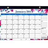 "NORTHERN BROTHERS 2019 Desk Calendar November 2018 - December 2019 17"" x 12"" Teacher Monthly Desk Pad Calendar Academic Year, Large Size,Ruled Blocks"