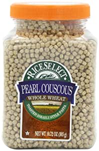 Riceselect Whole Wheat Pearl Couscous, 10.72-Ounce Jars (Pack of 6)