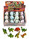 12 Pcs Novelty Magic Hatching Growing Pet Dinosaur Eggs For Kids (1 Dozen)