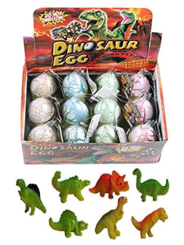 12 Pcs Novelty Magic Hatching Growing Pet Dinosaur Eggs For Kids (1 Dozen) -