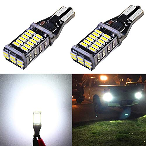 Alla Lighting 2000 Lumens 912 921 LED Back Up Light Bulbs Super Bright 921 LED Bulb High Power 4014 30-SMD LED 921 Bulb CANBUS Error Free T15 906 W16W 921 LED Reverse Back-Up Lights, 6000K Xenon White (Oe Recommended Plug)