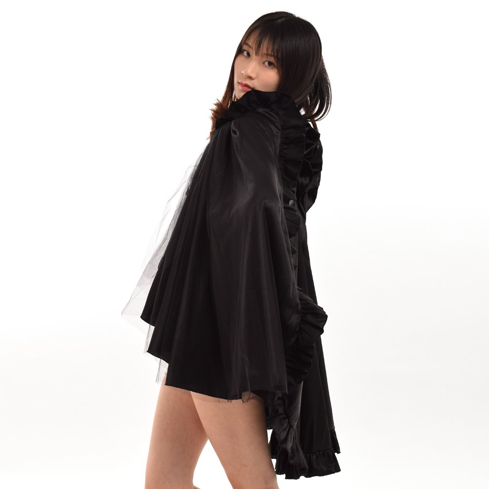 c418a5fa0 Amazon.com: BLESSUME Punk Flounce Bustle Skirt Cape, Black, One size:  Clothing