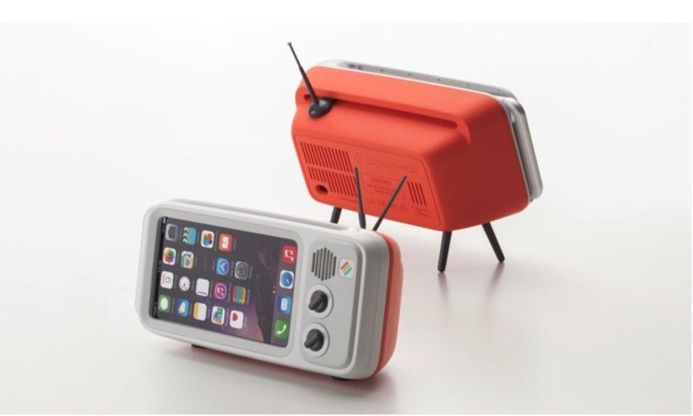 Retroduck クラシック、iPhoneスタンド、携帯電話スタンドは、iPhone専用(海外直送品) (Plus 6+/6s+/7+/8+, popn red) B07BS8JS28  popn red Plus 6+/6s+/7+/8+