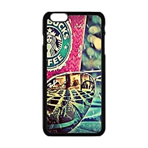 diy zhengCool-Benz Coffee starbucks and art glasses Phone case for iPhone 6 Plus Case 5.5 Inch