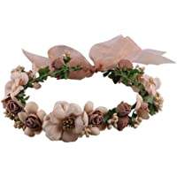 Frcolor Vendas de la corona de la flor, guirnalda floral Vendas de la guirnalda del pelo de la guirnalda para los apoyos…