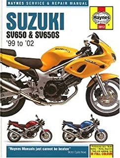 suzuki sv650 sv650s 1999 2008 haynes service repair manual rh amazon co uk suzuki sv 650 service manual 2003 2003 sv650 service manual pdf