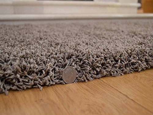 Soft Touch Shaggy Taupe Thick Luxurious Soft 5cm Dense Pile Rug. Available...