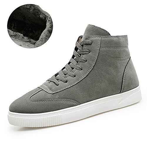 Men's Shoes Feifei Winter Keep Warm High Help Leisure Plate Shoes 3 Colors (Color : Gray, Size : EU39/UK6.5/CN40)