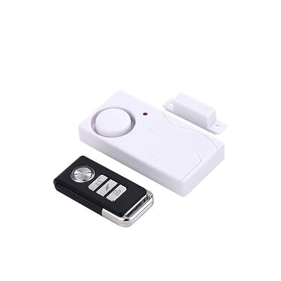 Mengshen Home Anti-Robo Puerta y Ventana Sensor de Movimiento magnetismo + vibración Dos en un Sistema de Alarma Anti-Robo de Seguridad con Control Remoto ...