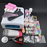 Pro Nail Art Uv Gel Kits Tool 36w Uv Lamp Brush Remover Nail Tips Acrylic Sets