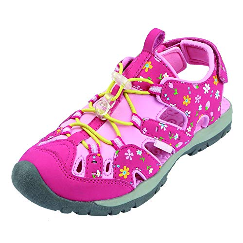 (Northside Kid's Burke SE Athletic Sandal, Fuchsia/Pink, 12 M US Little Kid)