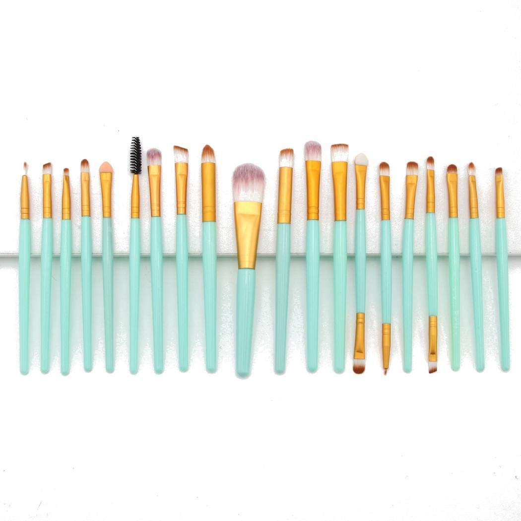 01eee68648 Amazon.com: HOTLISTA Makeup Brush Set, 20 Pieces Professional Makeup Brushes  Essential Cosmetics With Case, Face Eye Shadow Eyeliner Foundation Blush  Lip ...