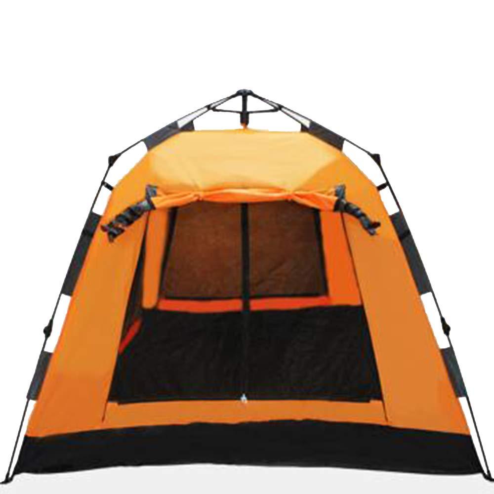 屋外テント3-4人全自動Ershiyitingスピードオープンテント折りたたみテント防雨オックスフォード布テントUV保護テント  orange B07H86QDH8