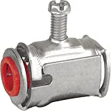 5 Pcs, 1/2 In. Fast Lock Connector w/Insulated Throat Used to Connect Flexible Metal Conduits Like Metal Clad Cables Or Armored Cables to Electrical Junction Boxes Or Enclosures