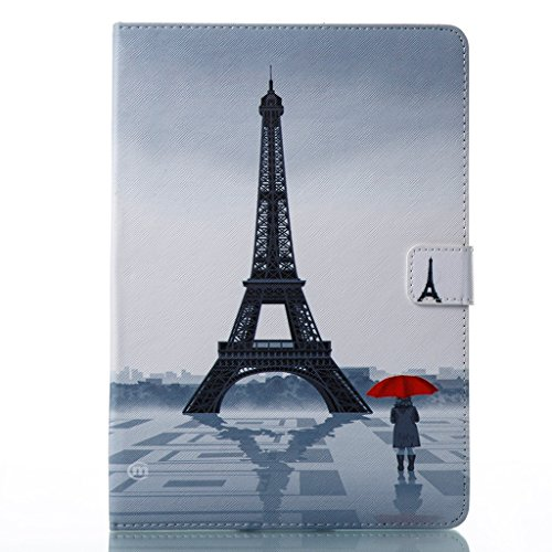 iPad Pro 10.5 Book Case, Girly Eiffel Tower Smart Folding Folio Leather Wallet Case Stand with Sleep/Wake Feature for New iPad Pro 10.5 inch 2017 (Eiffel Bookcase Stand)