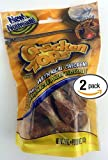 Bundle Pack of Two (2) Beefeaters Chicken Top Knotted Rawhide Dumbbells Dog Treat Chews