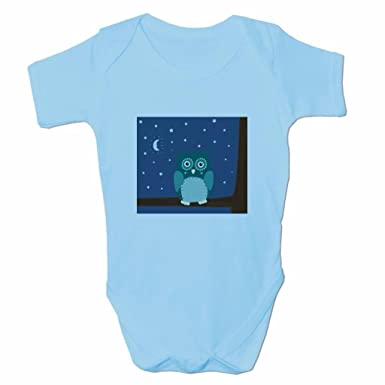 09a57f432 Amazon.com: Funny Baby Grows Cute Baby Clothes for Baby Boy Body Vest Night  Owl: Clothing