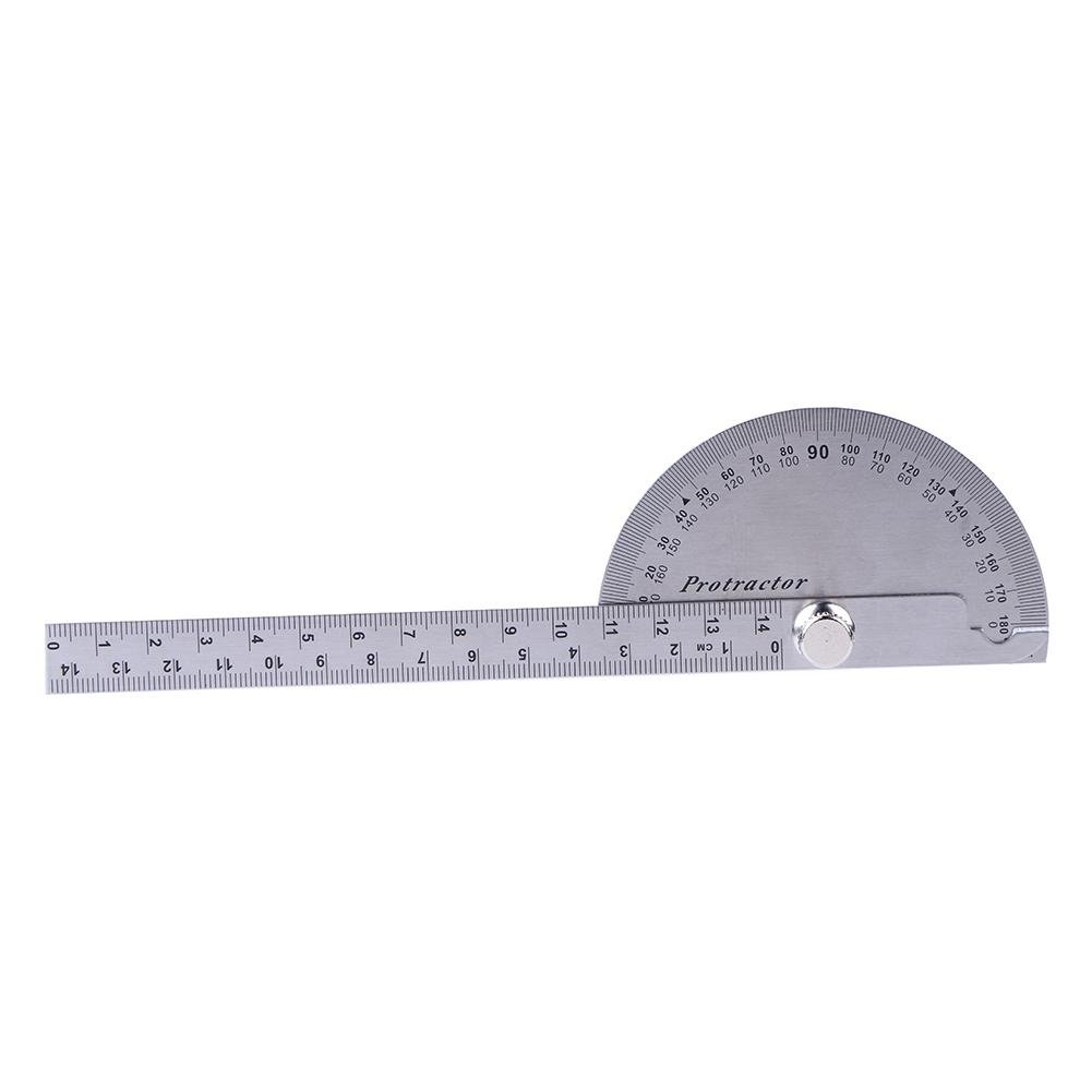Demiawaking 7 Protractor Angle Finder Measure Aluminum Triangle Engineer Protractor Rotary Measuring Ruler Articulating Straight Ruler for Handymen Builders Craftsmen