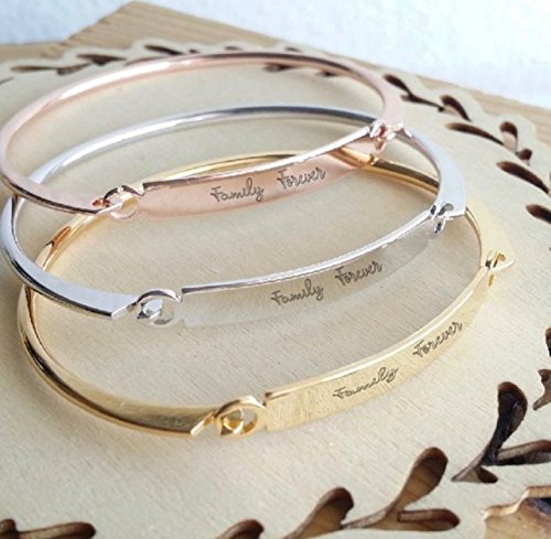 598cc72a772e0 Amazon.com: Actual Handwriting bangle, Custom handwritten bar ...