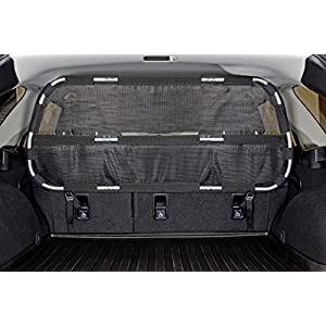 Bushwhacker - Paws n Claws Cargo Area Dog Barrier for CUV & Mid-Sized SUV - Hatchback Pet Divider Crossover Vehicle Car Net Mesh Travel Back Seat Safety Partition Universal Gate Restraint Fence Trunk 19