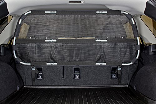 - Bushwhacker - Paws n Claws Cargo Area Dog Barrier for CUV & Mid-Sized SUV - Hatchback Pet Divider Crossover Vehicle Car Net Mesh Travel Back Seat Safety Partition Universal Gate Restraint Fence Trunk