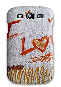 Lori Cotter Elodie's Shop 2991427K29630041 Premium Case With Scratch-resistant/ I Love You Drawing Case Cover For Galaxy S3