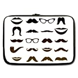 Retro Black Funny Mustache Beard White 13