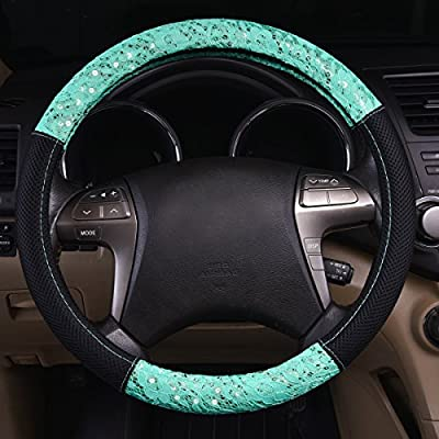 NEW ARRIVAL - CAR PASS Delray Lace and Spacer Mesh Steering wheel covers universal for vehicles,Suv (Mint): Automotive