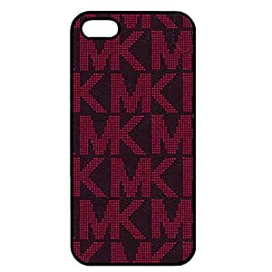 MK Michael Kors Luxury Watch Phone Case Cover for Iphone 5/Iphone 5s Black Hard Case_(Red Logo)