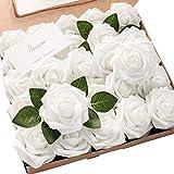 Floroom Artificial Flowers 50pcs Realistic White