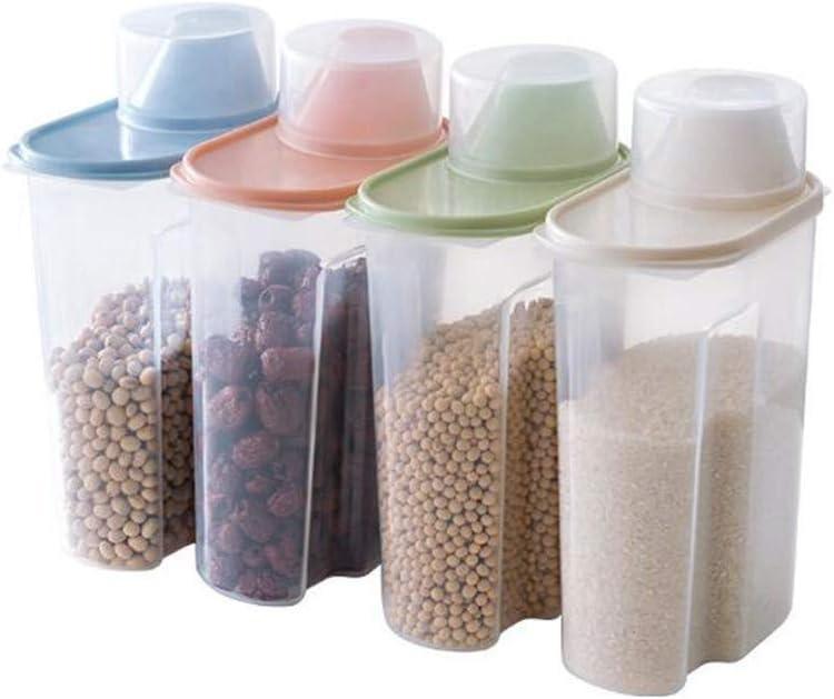Storage Kitchen Food Box Large Capacity Grain Bean Rice Container Crisper Grains Tank Household Cans Sorting Organizer(Random Color)