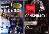The History Channel Conspiracy Theory 12 Episode Collection : TWA Flight 800 , Majestic Twelve UFO Cover-up , FDR and Pearl Harbor , Area 51 , Who Killed Martin Luther King Jr. , Princess Diana , Lincoln Assassination , Oklahoma City Bombing, CIA and the Nazis , Jack Ruby , RFK Assassination , Kecksburg UFO ,Best Evidence : Discovery Channel 6 Episode Conspiracy and Controversy Collection : TWA Flight 800 , Bigfoot , Chemical Contrails , John Wayne's Death , the Roswell Incident , Cattle Mutilations : Total 18 Episodes : 4 Disc Box Set : Over 13 Hours
