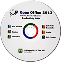 Office Suite Professional 2017 Home Student and Business CD Compatible with Microsoft Office for Windows 10 8 7 Vista Works with Word Excel PowerPoint