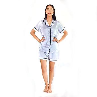 7af6f2dc6b Tana Women s Satin Short Sleeve Pajama Shorts Set (X-Large Pajamas ...