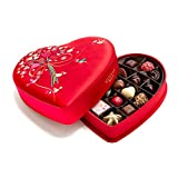 Godiva Chocolatier Limited Edition 2018 Valentine's Day Luxury Fabric Heart Assorted Gourmet Chocolates 25 Piece Gift Box