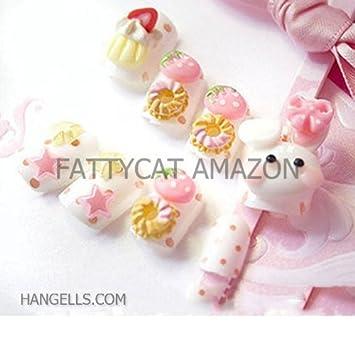 Amazon Fashion Japanese 3d Nail Art Lady Small White Rabbit 24