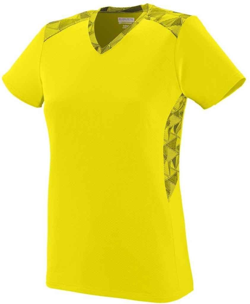 Augusta SportswearレディースVigorousジャージー B00QRT7GFA XX-Large|Power Yellow/Power Yellow/Black Print Power Yellow/Power Yellow/Black Print XX-Large