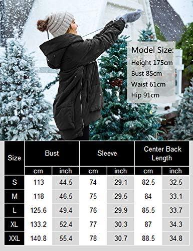 Beyove Down Jacket for Women Winter Thickened Down Coat Waterproof Hooded Long Parka(S-XXL)