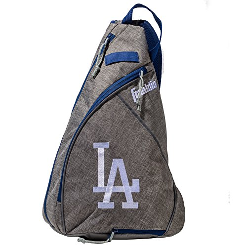 Franklin Sports Los Angeles Dodgers Slingback Baseball Crossbody Bag - Shoulder Bag w/Embroidered Logos - MLB Official Licensed Product