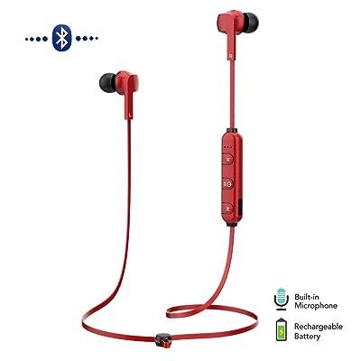 Auriculares Deportivo Inalámbrico MOREFINE Bluetooth Auriculares In ear Antideslizantes con Mic Cancelación de Ruido Llamadas de Manos Libres HD Sonido Estéreo para Correr iPhone Samsung Xiaomi Regalo