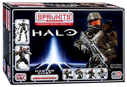 SpruKits Halo The Master Chief Action Figure Model Kit Assortment
