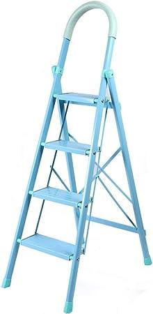 Escalera De Madera Escaleras Ascendentes Escalera Interior Escalera Plegable De Aleación De Aluminio para El Hogar. ZHANGQIANG (Color : Azul, Tamaño : Four Steps): Amazon.es: Hogar