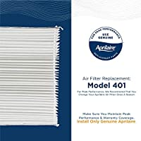 Pack of 1 Aprilaire 401 Replacement Filter for Aprilaire Whole House Air Purifier Model: 2400 MERV 10,White, Space Gard 2400