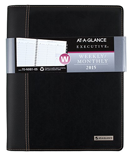AT-A-GLANCE 70NX8105 Columnar Executive Weekly/Monthly Appoi