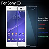 ApeCases Curved 2.5D Tempered Glass Screen Protector For Sony Xperia C3