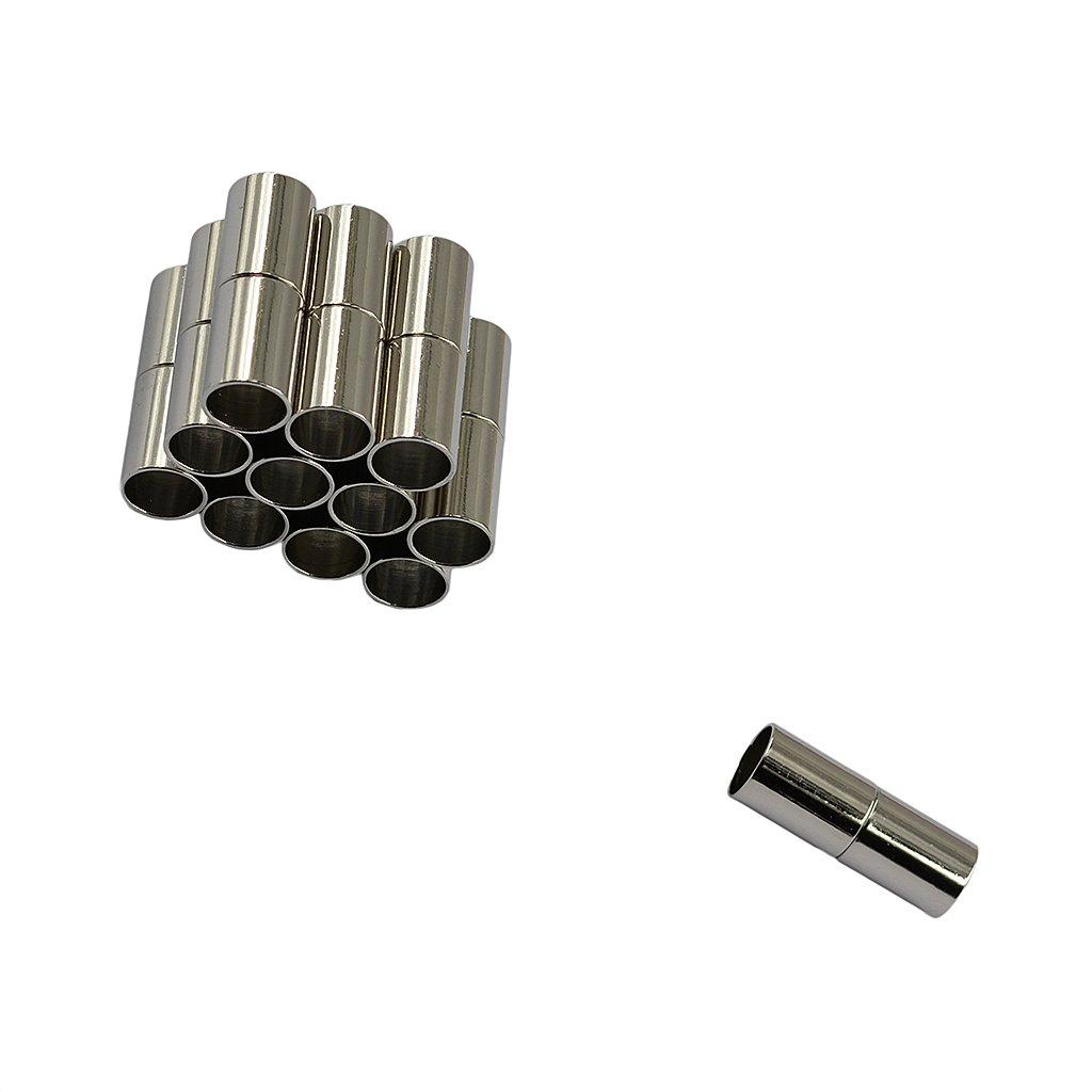 Hellery 12pcs Fermoirs Magn/étiques Tube pour la Fabrication de Collier et Bracelet