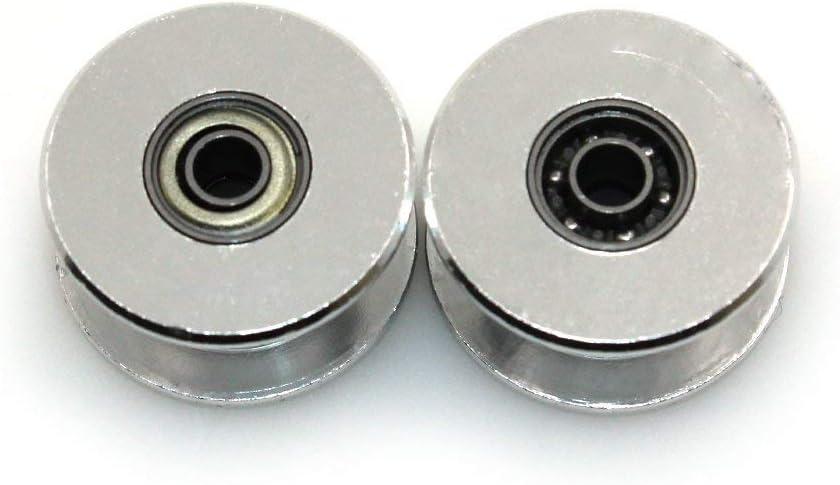 Paquete de 5 Piezas ICQUANZX GT2 Polea Loca 20 sin Dientes 3 mm de di/ámetro 6 mm de Ancho Polea de sincronizaci/ón Rueda de Aluminio para Impresora 3D