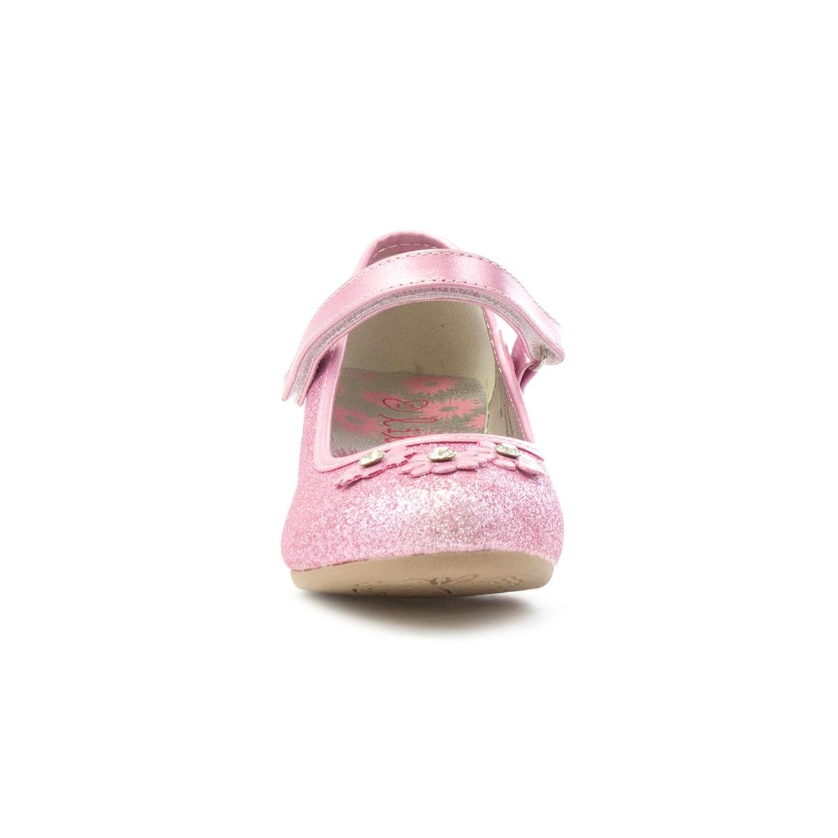 2019 year for lady- Lilley Sparkle Girls Pink Flower Party Shoe-20807