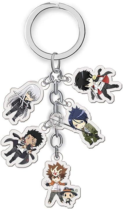 Redcherry Anime Characters Figure Pendants Doll Metal Keychain Japanese Anime Cartoon Key Rings Hitman Reborn Amazon Co Uk Office Products