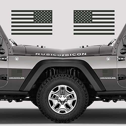 Truck Decal - Subdued American Flags Tactical Military Flag USA Decal Jeep 5